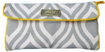 Poche Grey Cushion and Diaper  Clutch Combo - SALE!